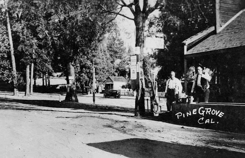 Pine Grove CA History - downtown