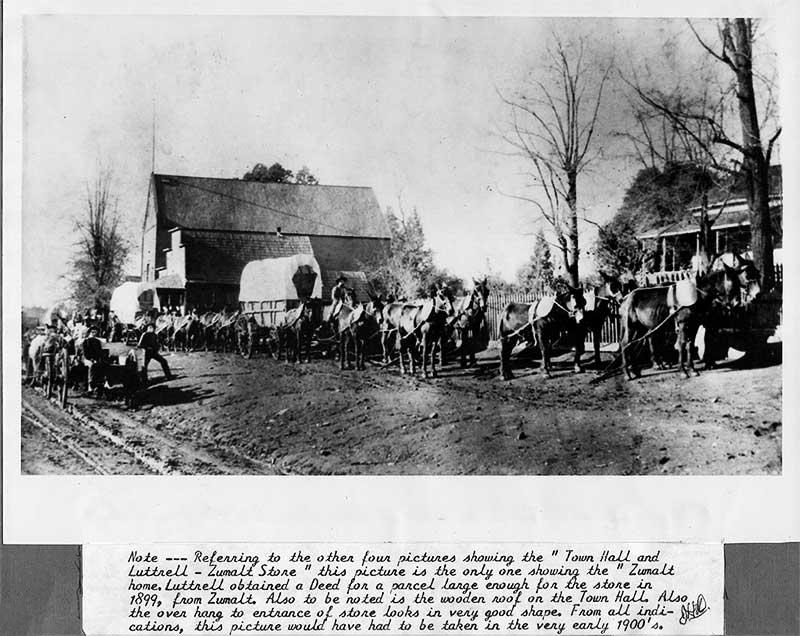 Pine Grove CA History - wagon train