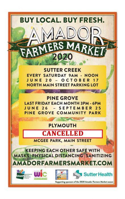 Amador Farmers Market 2020