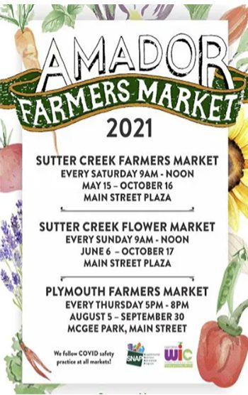 Amador Farmers Market Schedule