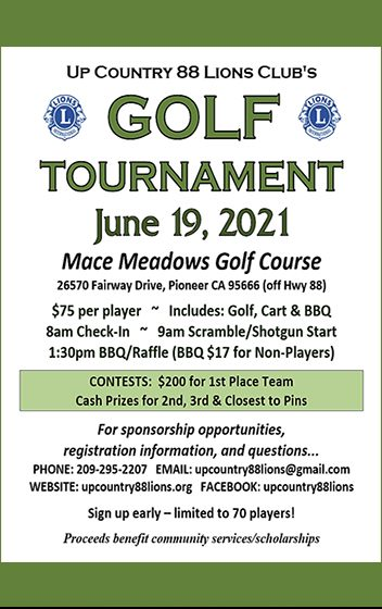 Upcountry Lions Club Golf Tournament